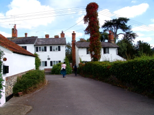 Mill end houses at Hambleden lock