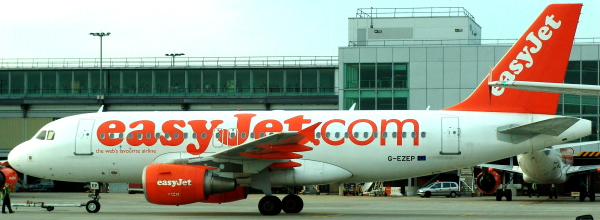 easyJet plane at London Gatwick airport